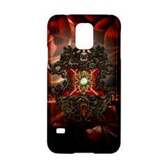 Wonderful Floral Design With Diamond Samsung Galaxy S5 Hardshell Case  by FantasyWorld7