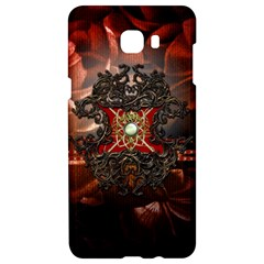 Wonderful Floral Design With Diamond Samsung C9 Pro Hardshell Case  by FantasyWorld7