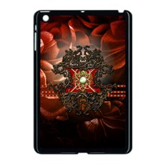 Wonderful Floral Design With Diamond Apple Ipad Mini Case (black) by FantasyWorld7