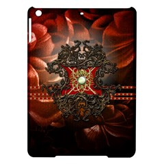 Wonderful Floral Design With Diamond Ipad Air Hardshell Cases by FantasyWorld7