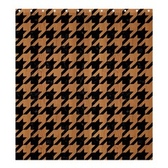 Houndstooth1 Black Marble & Light Maple Wood Shower Curtain 66  X 72  (large)  by trendistuff