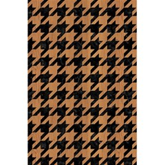 Houndstooth1 Black Marble & Light Maple Wood 5 5  X 8 5  Notebooks by trendistuff