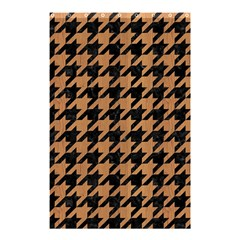 Houndstooth1 Black Marble & Light Maple Wood Shower Curtain 48  X 72  (small)  by trendistuff