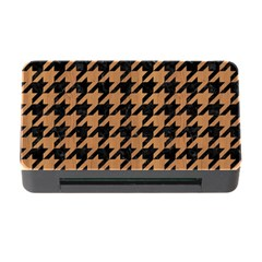 Houndstooth1 Black Marble & Light Maple Wood Memory Card Reader With Cf