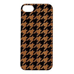 Houndstooth1 Black Marble & Light Maple Wood Apple Iphone 5s/ Se Hardshell Case by trendistuff