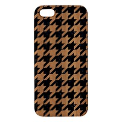 Houndstooth1 Black Marble & Light Maple Wood Iphone 5s/ Se Premium Hardshell Case by trendistuff