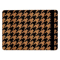 Houndstooth1 Black Marble & Light Maple Wood Samsung Galaxy Tab Pro 12 2  Flip Case by trendistuff