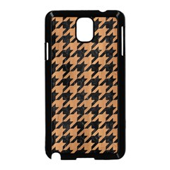 Houndstooth1 Black Marble & Light Maple Wood Samsung Galaxy Note 3 Neo Hardshell Case (black) by trendistuff
