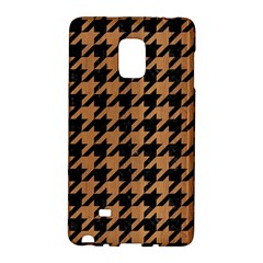 Houndstooth1 Black Marble & Light Maple Wood Galaxy Note Edge by trendistuff