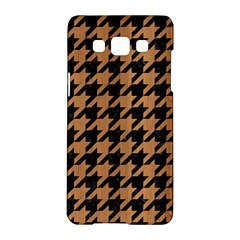Houndstooth1 Black Marble & Light Maple Wood Samsung Galaxy A5 Hardshell Case  by trendistuff