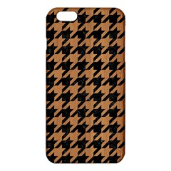 Houndstooth1 Black Marble & Light Maple Wood Iphone 6 Plus/6s Plus Tpu Case by trendistuff