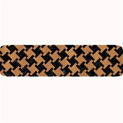 Houndstooth2 Black Marble & Light Maple Wood Large Bar Mats