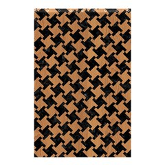 Houndstooth2 Black Marble & Light Maple Wood Shower Curtain 48  X 72  (small)  by trendistuff