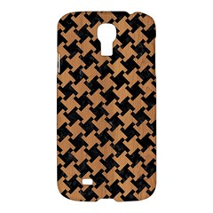 Houndstooth2 Black Marble & Light Maple Wood Samsung Galaxy S4 I9500/i9505 Hardshell Case by trendistuff