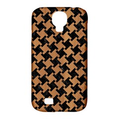 Houndstooth2 Black Marble & Light Maple Wood Samsung Galaxy S4 Classic Hardshell Case (pc+silicone) by trendistuff