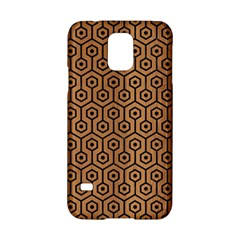 Hexagon1 Black Marble & Light Maple Wood (r) Samsung Galaxy S5 Hardshell Case  by trendistuff