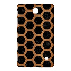 Hexagon2 Black Marble & Light Maple Wood Samsung Galaxy Tab 4 (8 ) Hardshell Case  by trendistuff