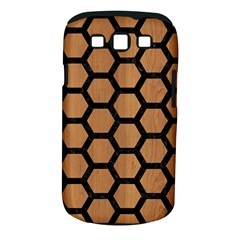 Hexagon2 Black Marble & Light Maple Wood (r) Samsung Galaxy S Iii Classic Hardshell Case (pc+silicone) by trendistuff