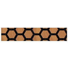 Hexagon2 Black Marble & Light Maple Wood (r) Flano Scarf (small) by trendistuff