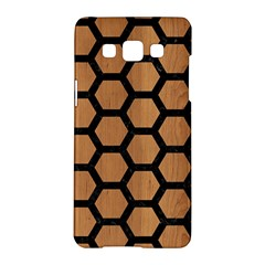 Hexagon2 Black Marble & Light Maple Wood (r) Samsung Galaxy A5 Hardshell Case  by trendistuff
