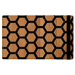 Hexagon2 Black Marble & Light Maple Wood (r) Apple Ipad Pro 12 9   Flip Case by trendistuff