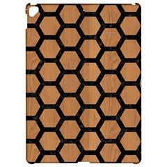 Hexagon2 Black Marble & Light Maple Wood (r) Apple Ipad Pro 12 9   Hardshell Case by trendistuff
