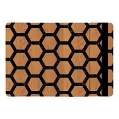 Hexagon2 Black Marble & Light Maple Wood (r) Apple Ipad Pro 10 5   Flip Case