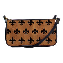 Royal1 Black Marble & Light Maple Wood Shoulder Clutch Bags by trendistuff