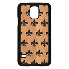 Royal1 Black Marble & Light Maple Wood Samsung Galaxy S5 Case (black) by trendistuff