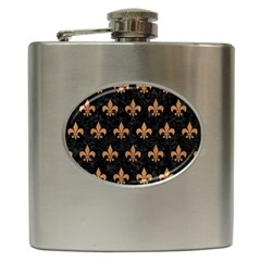 Royal1 Black Marble & Light Maple Wood (r) Hip Flask (6 Oz) by trendistuff