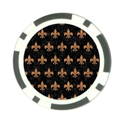 Royal1 Black Marble & Light Maple Wood (r) Poker Chip Card Guard (10 Pack) by trendistuff