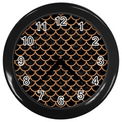 Scales1 Black Marble & Light Maple Wood Wall Clocks (black) by trendistuff