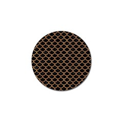 Scales1 Black Marble & Light Maple Wood Golf Ball Marker (4 Pack) by trendistuff