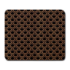 Scales2 Black Marble & Light Maple Wood Large Mousepads by trendistuff