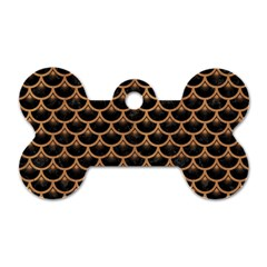 Scales3 Black Marble & Light Maple Wood Dog Tag Bone (one Side) by trendistuff