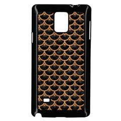 Scales3 Black Marble & Light Maple Wood Samsung Galaxy Note 4 Case (black) by trendistuff