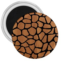 Skin1 Black Marble & Light Maple Wood 3  Magnets by trendistuff