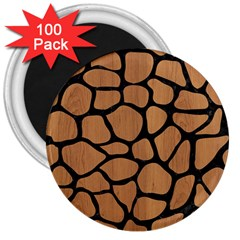 Skin1 Black Marble & Light Maple Wood 3  Magnets (100 Pack) by trendistuff