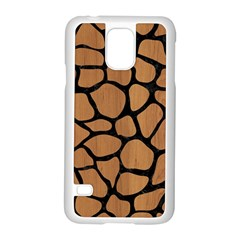 Skin1 Black Marble & Light Maple Wood Samsung Galaxy S5 Case (white) by trendistuff