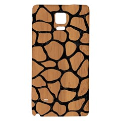 Skin1 Black Marble & Light Maple Wood Galaxy Note 4 Back Case by trendistuff