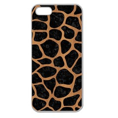 Skin1 Black Marble & Light Maple Wood (r) Apple Seamless Iphone 5 Case (clear) by trendistuff