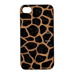 Skin1 Black Marble & Light Maple Wood (r) Apple Iphone 4/4s Hardshell Case With Stand by trendistuff