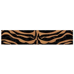 Skin2 Black Marble & Light Maple Wood Flano Scarf (small) by trendistuff