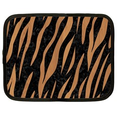 Skin3 Black Marble & Light Maple Wood Netbook Case (large) by trendistuff