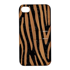 Skin4 Black Marble & Light Maple Wood (r) Apple Iphone 4/4s Hardshell Case With Stand by trendistuff