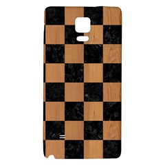 Square1 Black Marble & Light Maple Wood Galaxy Note 4 Back Case by trendistuff