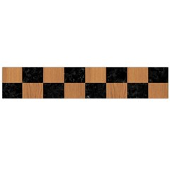 Square1 Black Marble & Light Maple Wood Flano Scarf (large) by trendistuff