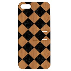 Square2 Black Marble & Light Maple Wood Apple Iphone 5 Hardshell Case With Stand by trendistuff