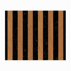 Stripes1 Black Marble & Light Maple Wood Small Glasses Cloth by trendistuff