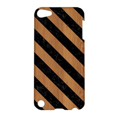 Stripes3 Black Marble & Light Maple Wood (r) Apple Ipod Touch 5 Hardshell Case by trendistuff